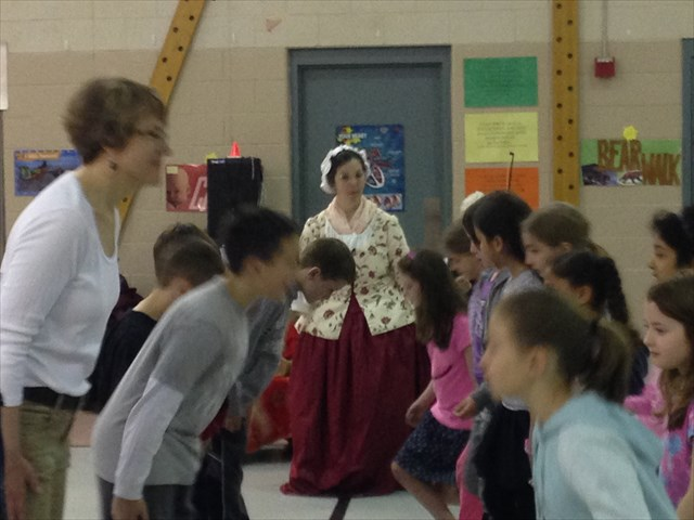 [image]Learning Dancing and Deportment in the third grade at the Fuller School, Keene, NH